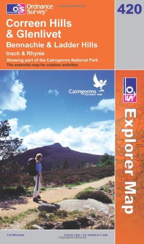 OS Explorer map 420 : Coreen Hills & Glenlivet