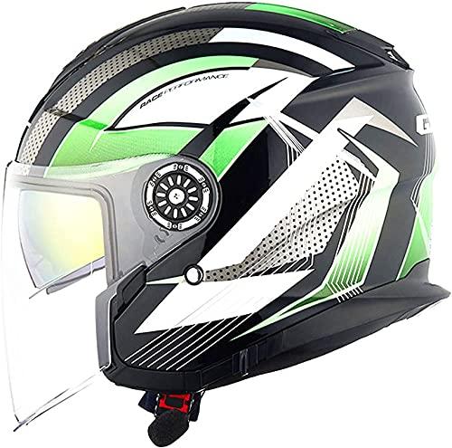 XIAOER Cascos de chorro de motocicleta Bluetooth, Cascos de la cara abierta de la motocicleta con lente antiiezona de alta definición, certificación ECE Medios Cascos con función de respuesta automáti