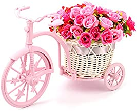 Louis Garden Nostalgic Bicycle Artificial Flower Decor Plant Stand (Pink)