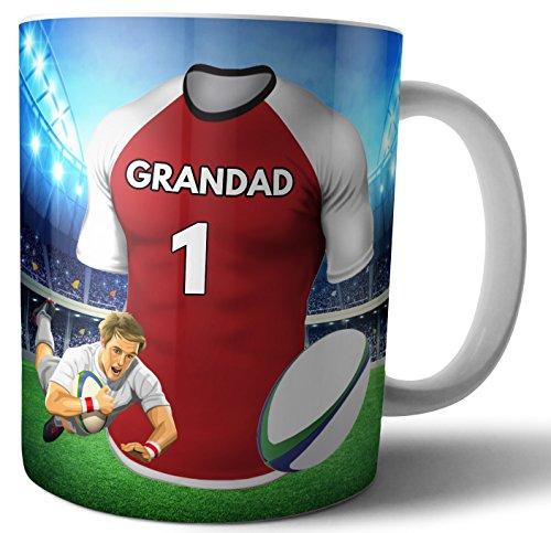 Teetasse/Kaffeetasse Rugby-Geschenk für einen Großvater – Die Sunwolves Farben