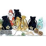 Esplic Bolsas De Calendario De Adviento De Navidad 2020, Bolsas De Arpillera De 24 Días con Bolsas De Regalo con Cordón, Bolsas De Dulces, Decoraciones De Bricolaje para Colgar En La Pared del Hogar