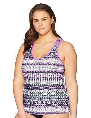 ZeroXposur Womens Teardrop XO Swimsuit Racer Back Tankini Top Swimwear No Bottom Beet, 8