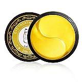 ALATIMI 24K Gold Eye Mask, Sodium Hyaluronate, Menthol, Glycerin, Eliminate Eye Bags, Dark Circles, Improve Eye Skin Elasticity and Anti-Aging (New-1)