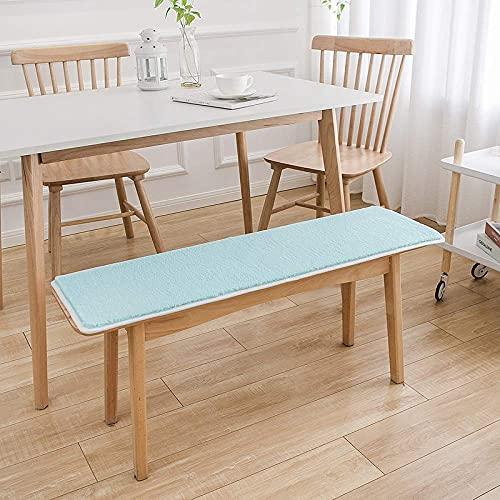 Kissen Garden Swing Chair Sitzbank Pad Rutschfestes Sitzpolster Weiches Plüsch-Rückenpolster LakeBlue-30x150cm
