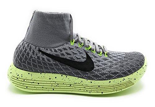 Nike Women's Lunarepic Flyknit Shield Running Shoes (9 US, Wolf Grey/Dark Grey/Volt/Black)