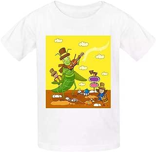 Aslgisy Child Summer Cotton Tee,Screaming Cartoon Bee Casual 3D Printed T-Shirt Short Sleeve for Kids Boys Girls