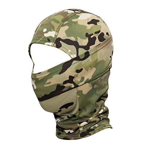 JIUSY Camouflage Balaclava Hood Ninja Outdoor Cycling Motorcycle Motorbike Hunting Military Tactical Airsoft Paintball Helmet liner Gear Wind Dust Sun UV Protection Breathable Full Face Mask SP-04