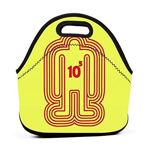 AOOEDM Doshin The Giant - Red Ver. Fiambrera reutilizable del totalizador del bolso del almuerzo de la comida campestre de la escuela del trabajo para los hombres de las mujeres niños