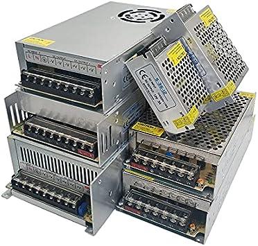 AC DC 5 12 24 Fuente de alimentación VOLT 5V 12V 24V AC DC Transformador 220v a 5V 12V 24V Fuente de alimentación conmutada SMPS 1A 3A 5A 10A 20A 30A (Power : 5V 20A 100W)