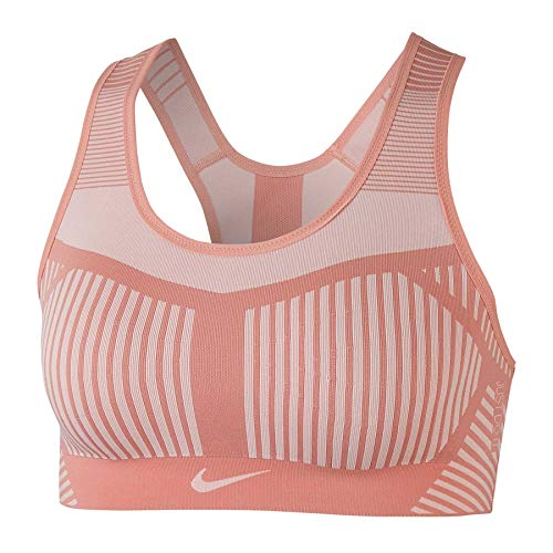 Nike Damen FE/NOM Flyknit Bra Sports, pink Quartz/(Echo pink), XS