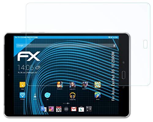 atFolix Schutzfolie kompatibel mit Asus ZenPad 3S 10 Z500M Folie, ultraklare FX Bildschirmschutzfolie (2X)