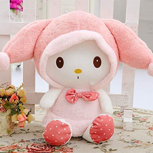 LINQ Plüschtiere 35cm rosa Hut My Melody Nette Kaninchen füllte Plüsch-Spielzeug-Puppe-Kind-Geburtstag-Geschenk-Hauptdekoration Qianmianyuan