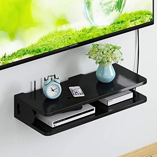 LULUDP USB Hub Charge Box Set-Top Shelf Cable Box Organizador en la Sala de Estar Wall Router Cajas de Almacenamiento Estante de Pared Wall Data Line Caja de Acabado
