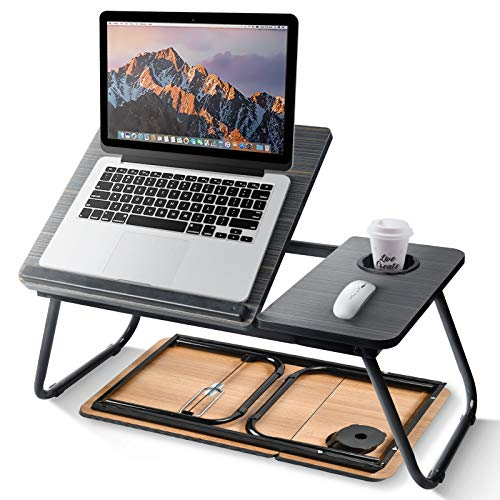 newoer Adjustable Laptop Bed Stand,Lap Desks Bed Trays for Eating and Laptops Stand Lap Table, Adjustable Computer Tray for Bed, Foldable Bed Desk for Laptop and Writing in Sofa and Couch