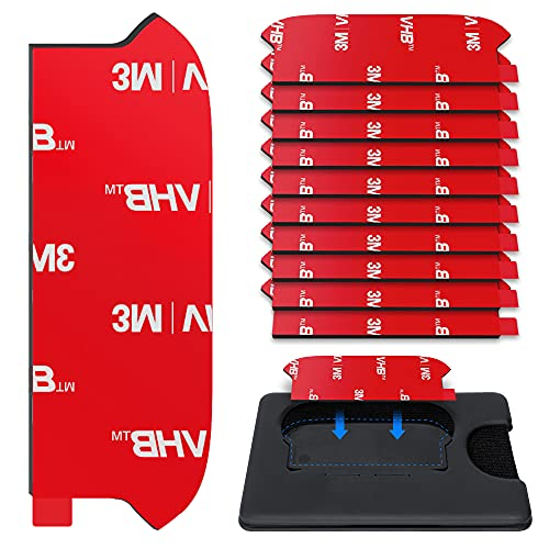 10 Piezas Pop Socket Wallet Adhesivo de Reemplazo, Wallet Plus Case Base Back Sticker Pads, Doble Cara Cinta Adhesiva de Alta Adherencia Pieza Para Cartera+Titular de La Tarjeta de Teléfono Con Agarre