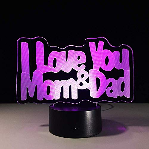Led-nachtlampje, 3D-vision-zeven kleuren, afstandsbediening, het beste cadeau voor ouders
