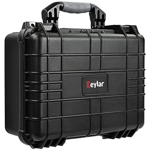 Eylar Tactical Hard Gun Case Water & Shock Proof with Foam 16 inch 13 inch 6.87 inch (Black)