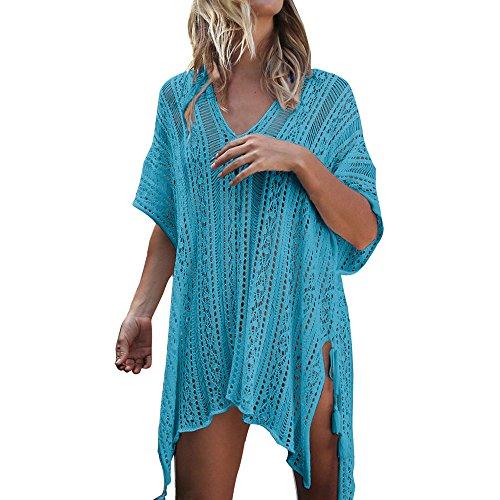 FRAUIT dames strandjurk bikini cover-ups zomer gebreide strandponcho asymmetrisch strandvakantie strandponcho badpak oversized haken kittel verkleden blouse