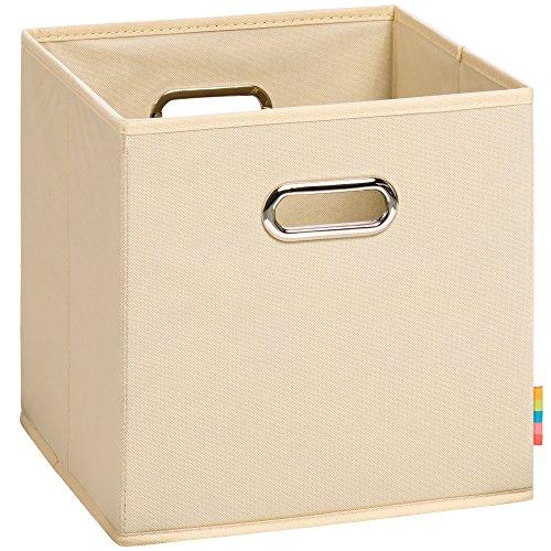 Schmetsdorf (H&S) Aufbewahrungsbox MIA - Faltbox - Korb - 28x28x28 cm - (Natur)