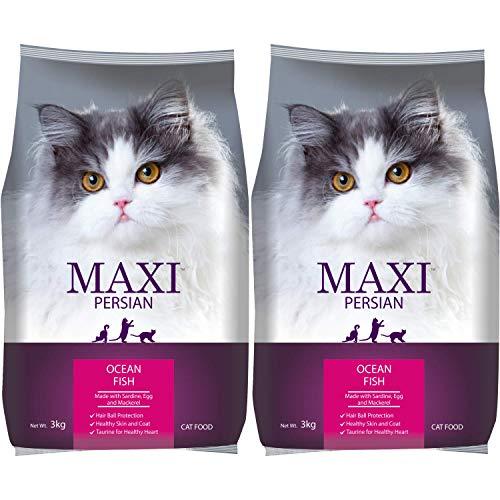 Maxi Persian Adult(+1 year) Dry Cat Food, Ocean Fish, 3kg (BUY 1 GET 1 FREE)