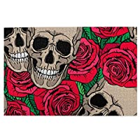 頭蓋骨と赤いバラの花 ジグソーパズル 大人用 子供 1000ピース 木のパズル 高級印刷 パズル 面白い 人気 キッズ 学習 認知 玩具 壁飾り 初心者向け ストレス解消 ブレインティーザー ゲーム ギフト プレゼント