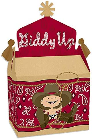 Big Dot of Happiness Little Cowboy Treat Box Party Favors Western Baby Shower or Birthday Party product image