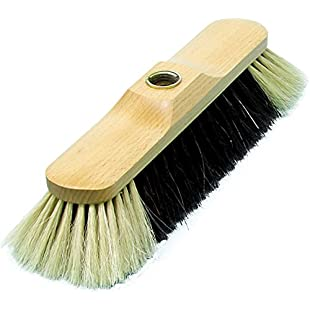 Bürstenmann Indoor Broom with Timber Body and Horse Hair Mixture Light Beard