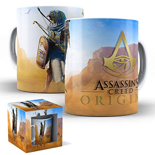 Caneca de Porcelana com Caixinha Presente Assassin's Creed Origins mod.48