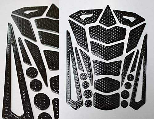 Tankpad Tankschutz Motorrad Carbon Optik 3D universell Tankschutz Schwarz