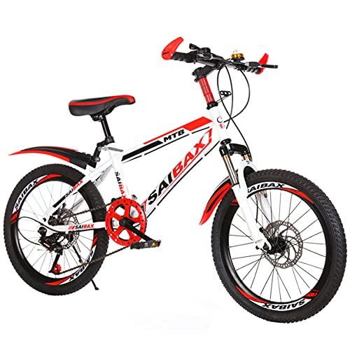 Bambini Mountain Bike 6 velocità Bicicletta per Bambini per Viaggio Shopping Sport all'aperto Forte Effetto di Assorbimento degli Urti Altezza Regolabile Studente 20/22 Pollici,C,22in