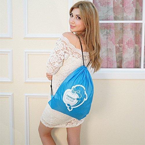 """LAGHCAT Mermaid Tail Blanket Knit Crochet and Shark Blanket for kids,Sleeping Bags (56""""X28"""", Dark Gray Shark)"""