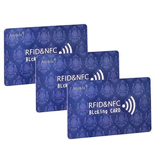 RFID Blocking Card,3Pcs Protection Entire Wallet and Purse Shield, Contactless NFC Bank Debit Credit...