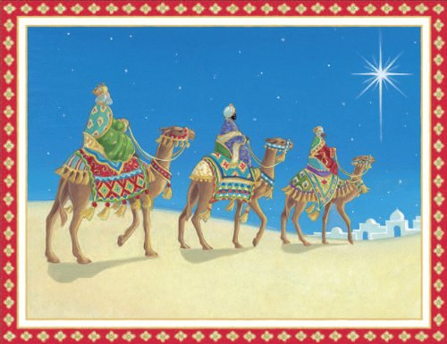Entertaining with Caspari Three Wise Men Christmas Cards with Unlined Envelopes, Box of 16