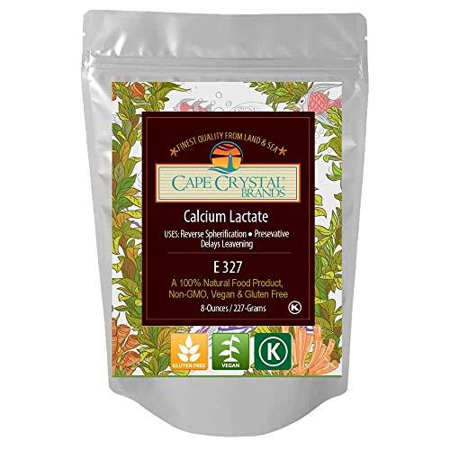 Calcium Lactate | 100% Food Grade & Non-GMO Direct & Reverse Spherification Agent | Kosher Certified & Flavorless Ingredient for Molecular Gastronomy | 8-oz