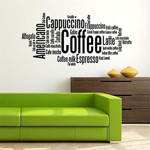 Muursticker slaapkamer koffieregels spreekwoorden woonkamer slaapkamer 61 x 30.5 cm