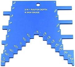 Dcolor Medidor de Profundidad de Paso 2 en 1 para Fresadora y Sierra de Mesa, Medidor de Profundidad de Paso de Aluminio para Configurar la Altura de la Hoja