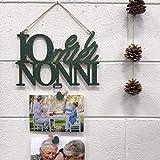 Bpaper Portafoto in Legno Io e Il Mio Nonno Regalo Festa dei Nonni (Verde)