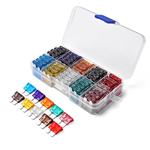 MICTUNING 100PCS ATC ATO Assorted Standard Blade Fuse Set 2A 3A 5A 7.5A 10A 15A 20A 25A 30A 35A for Car Truck SUV Boat Automotive Replacement Fuses
