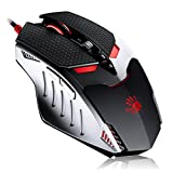 TL80 Termin8r Ultra-Core Laser Gaming Mouse | Light Strike (LK) Optical Switch & Scroll - Shift Lever and 8 Programmable Buttons with Advanced Macros - X'Glide Armored Mouse Feet - USB