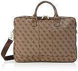 Guess 4G Uptown Computer Bag - Maletín para Ordenador portátil de 15', Color marrón