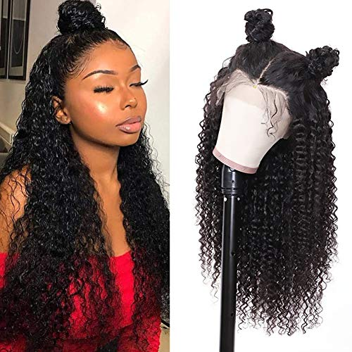 Ur Beautiful 8A Curly Lace Front Wigs Human Hair 13x4 Kinky Curly Human Hair Wig Pre-Plucked With Baby Hair 150% Density Brazilian Hair Wig curly wig Echte Haare Peruecke Lockig Natural Color 10 Zoll