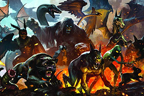 Toynk Cryptid Animals and Monster Legends 1000 Piece Jigsaw Puzzle | Game Night Puzzle