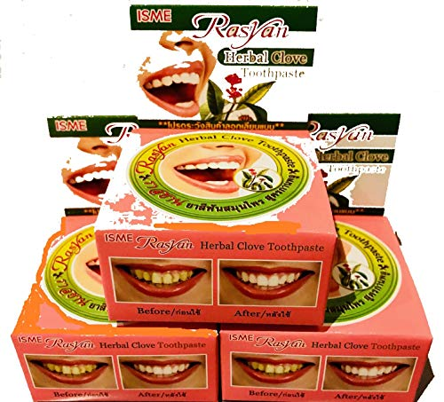 3 Rasyan ISME Herbal Clove Toothpaste Tooth paste Anti Bacteria Bad Breath Decay by SMILE LANNA SHOP