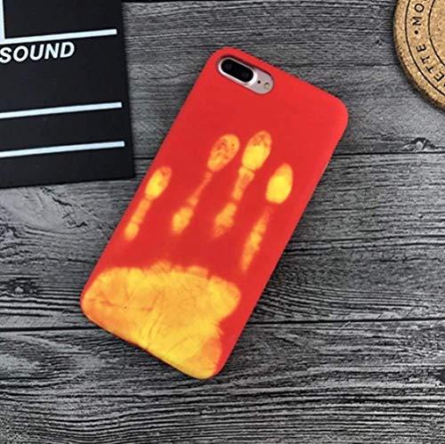 cáscara del teléfono Fashional Thermal Sensor Case para iPhone 7 Plus Funda de teléfono de inducción de Calor Fundas Funda Protectora