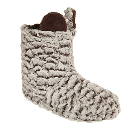 Pertemba Global Womens/Ladies - Botas de estar Por casa con Orejas de Animales (38/39 EU/Blanco/Marrón)