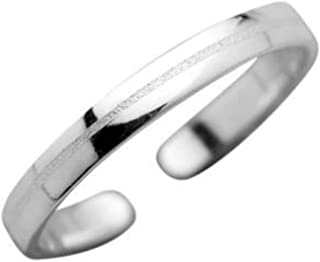 FIVE-D Anello per dita dei piedi, misura regolabile, sabbiato, in argento Sterling 925, con custodia per gioielli