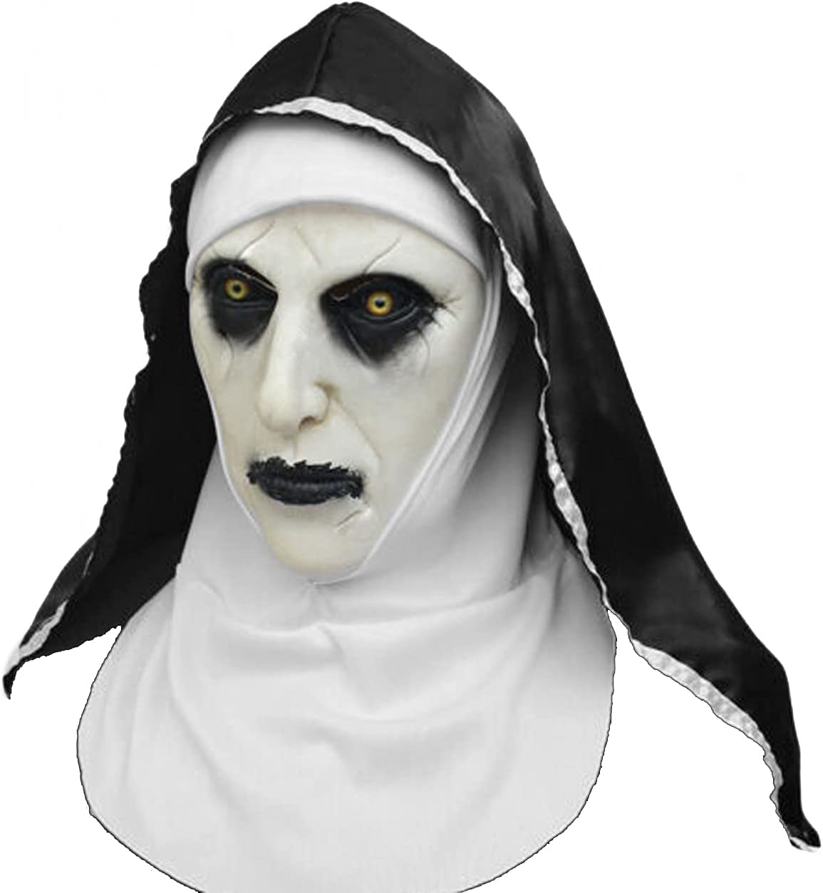 Horror Scary Nun Latex Full Head with Headscarf Cospl Valak Max 58% OFF security Mask