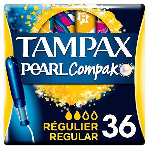 Tampax Compak Pearl Regular Con Aplicador, Óptimo Tampón T