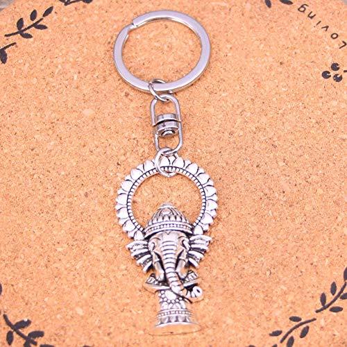 TAOZIAA Fashion Sieraden Accessoires Zilver Hanger Ganesha olifant buddha Sleutelhanger Sleutelhanger Ring Voor Vrouwen Mannen Geschenken Sleutelhanger