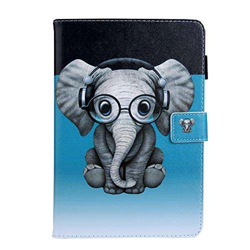 JIan Ying Case for Samsung Galaxy Tab A6 10.1' SM-T580 T585 Beautiful Patterns Slim Protector Cover elephant